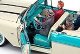1955 Pontiac Star Chief Convertible Nautilus Blue/White Mist from
