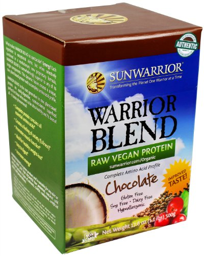 Sunwarrior Warrior Blend Protein, Chocolate 1.1 Lbs (Ffp)