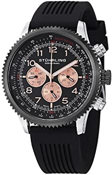 buy Stuhrling Original Men'S 858R.02 Concorso Swiss Quartz Stainless Steel Watch With Black Rubber Band