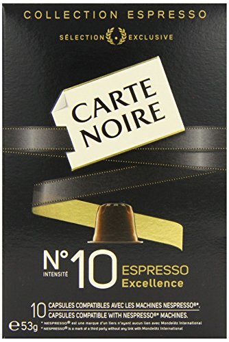 Carte Noire No.10 Espresso Nespresso Compatible Coffee Capsules 53 g (Pack of 4)