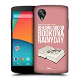 Head Case Designs Good Book Enjoy The Little Things Protective Snap-on Hard Back Case Cover for LG Google Nexus 5 D820 D821