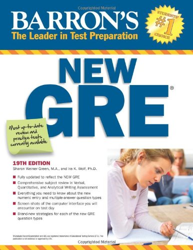 Barron's New GRE, 19th Edition (Barron's GRE)