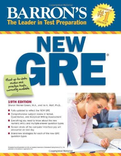Barron's New GRE, 19th Edition (Barron's Gre)