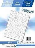 LabelOcean LO-0070-a-70, 7000 Etiketten 24mm = 100 Blatt DIN A4, 70g/qm, geeignet für Inkjetdrucker-, Laserdrucker und Kopierer.