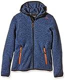 CMP Mädchen Fleecejacke Knitted Fix Hood, storm-nero, 176,...