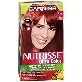 Garnier Nutrisse Ultra Color Ultra Intense Red for Darker Hair Permanent Color, Light Intense Auburn R3 1 ea