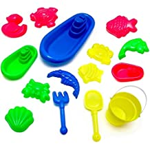 Viahart 15 Pieces Huge Beach And Sand Toy Set Creates Fun For Your Kids & Unleash Their Creativity With Bucket...