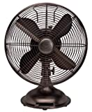 "Hunter Fan 90406 12"" Oscillating Desk Fan - oil rubbed bronze Color"