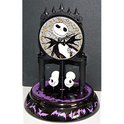 Amazon.com : Nightmare Before Christmas ~ Porcelain ANNIVERSARY Clock ...