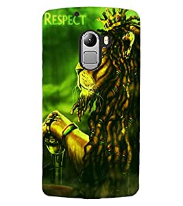 ColourCraft The Lion Look Design Back Case Cover for LENOVO VIBE X3 LITE
