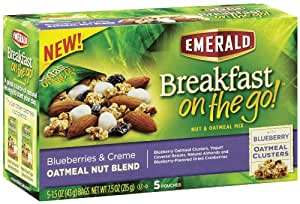 Emerald Breakfast on the Go! Blueberries and Creme Oatmeal Nut Blend, 7.5 Ounce