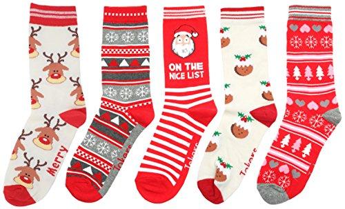 Festive Feet -  Calze  - Donna 5 Pack Multi Taglia unica