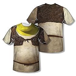 Shrek Costume All Over Print Front / Back T-Shirt
