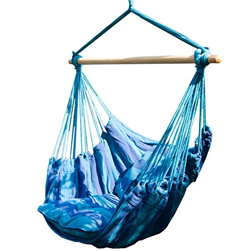 Prime Garden Seaside Stripe Soft Comfort Hanging Hammock Chair (Hammock Stand Chair compare prices)