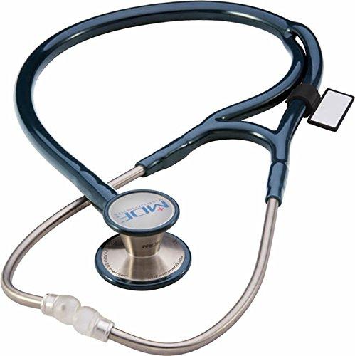 Corre que vuela Estetoscopio adulto-pediátrico de doble cabeza de acero inoxidable en color azul MDF Instruments MDF797DD-11 ER Premier Cardiology