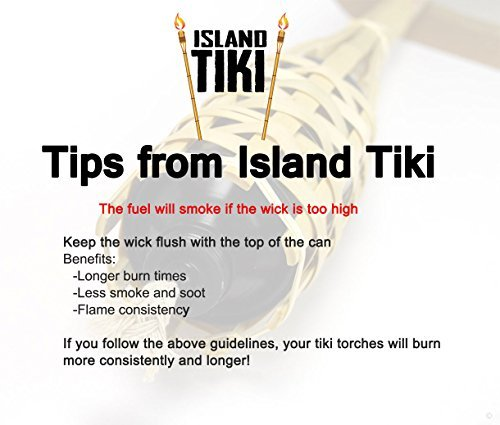 Island Tiki Torch Bundle Sharp Angled Bottom Tip for EASY