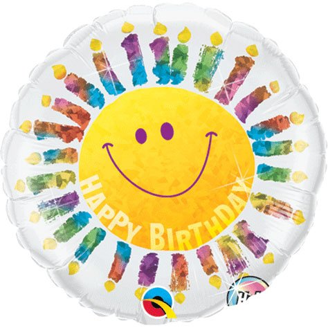 "PIONEER BALLOON COMPANY B'day Smile Face Candles Pack, 18"" - 1"