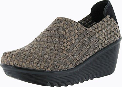 Bernie Mev Womens Gem Wedge Shoes,Bronze,39 front-639549