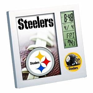 NFL Pittsburgh Steelers Digital Desk Clock by WinCraft