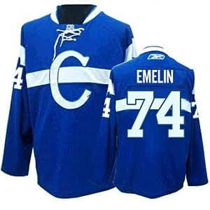 Amazon.com : Reebok Montreal Canadiens 74 Alexei Emelin Blue Authentic