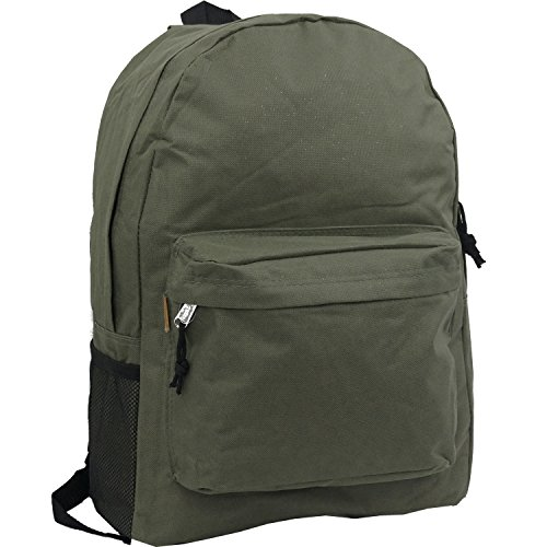 18in Classic Basic Backpack Simple School Book Bag Vintage ...