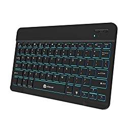 iClever Universal Backlight 7-Color Adjustable Brightness Portable Wireless Bluetooth 3.0 Keyboard