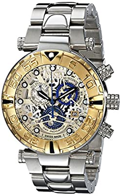 Invicta Men's 15993 Subaqua Skeletonized 18k Gold Ion-Plated and Stainless Steel Watch