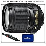Nikon 18-105mm f 3.5-5.6 AF-S DX VR ED Nikkor Lens for Nikon Digital SLR Cameras + Lens Cleaning Pen & RND Microfiber Cleaning Cloth