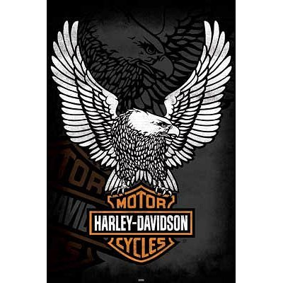 (24x36) Harley Davidson (Eagle Logo) Art Poster Print