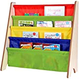 Naomi Kids Toy Sling Bookrack Natural/Primary Colors