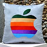 Multi Coloured Apple-Bright Colours And Beautifully Etched Motif In Velvet - B00NMBV454