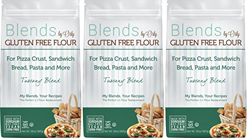 Custom Blended Gluten Free Bread Flour - Blends By Orly - Tuscany Blend - Gluten-free Baking Flour for Breads, Pizza Crust, and Pasta 60ozs... (Sprouted Grain Bread Cookbook compare prices)