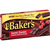 Baker's, Semi Sweet Baking Chocolate Squares, 4oz Box (Pack of 4)