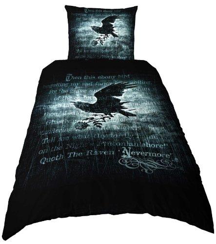 Alchemy gothic Nevermore-Copripiumino per letto singolo, 135 x 200 cm