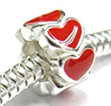 Valentines Sterling Silver Enamel Endless Love Red Heart Bead Charm For Pandora Troll Chamilia Biagi European Jewelry