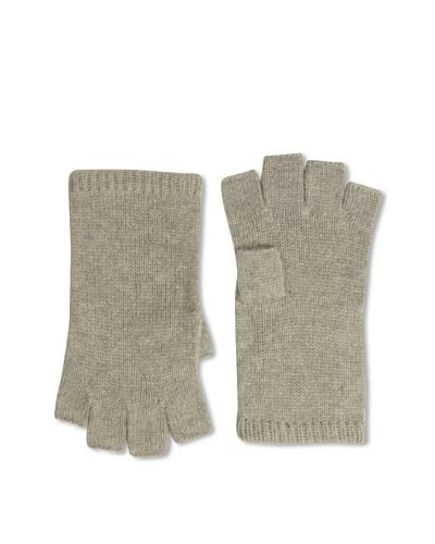 Sofia Cashmere Women's Fingerless Gloves, Heather Taupe