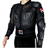 PRO-BIKER Motorbike Motorcycle Full Body Armour Armor Protector Guard Shirt Jacket with Back Protection Made of Hard Plastic and Breathable Mesh for Motocross ATV Road Motorcycling etc. Black Size XXXL