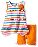 Little Lass Baby-Girls Infant 2 Piece Stripe Short Set