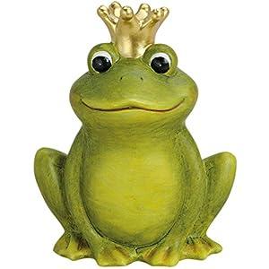 froschk nig deko frosch mit krone 22cm gartendeko keramik figuren gartenfiguren garten. Black Bedroom Furniture Sets. Home Design Ideas