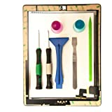 Group Vertical - for iPad 2 Black Touch Screen Digitizer Assembled   Tools - 2nd Generation iPad screen with adhesive, home button assembly and camera holder. Includes Pro Tools