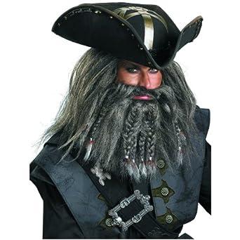 Blackbeard Facial Hair Accessory Kit Costume Set