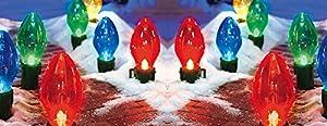 Giant Christmas Lightbulb Pathway Light Set (set of 4)
