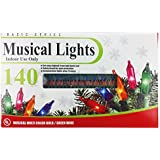 Set of 140 Indoor Multi-Color Holiday Musical String Lights