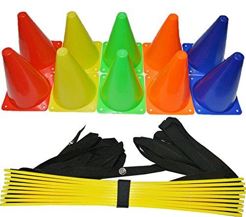 [Unbranded products: 4-piece set stopwatch + marker cone 10 pieces + training radar + ladder storage case [parallel import goods: 5 m skr5