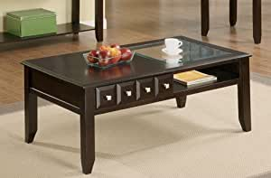 Coffee Wood Table In Dark Finish By Poundex