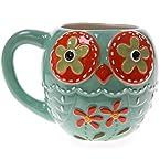 Stoneware Owl Mug - Blue