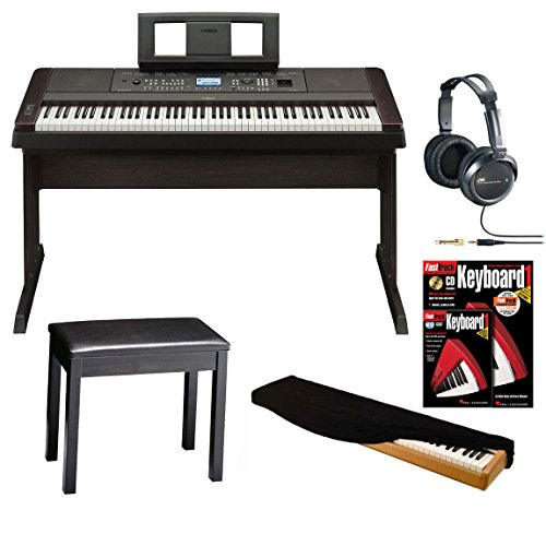 Great Features Of Yamaha DGX-650 88-Key Graded Hammer Action Digital Piano (Black) with Headphones, ...