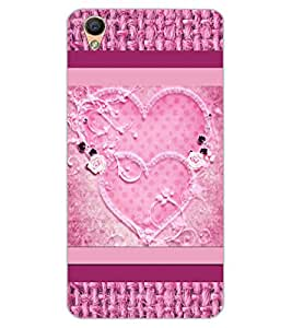 ColourCraft Love Hearts Design Back Case Cover for OPPO R9