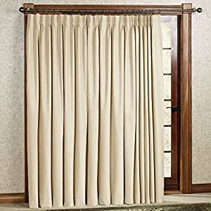 Supreme Pinch Pleated Panels Pair Blackout Curtain Beige 50 X 95