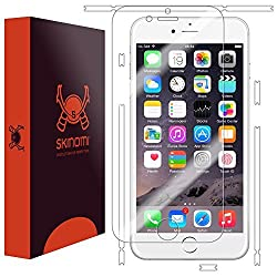 Skinomi TechSkin - Apple iPhone 6 Screen Protector + Full Body Skin (EASY INSTALL) Front & Back HD Clear Film / Ultra High Definition and Anti-Bubble Invisible Shield